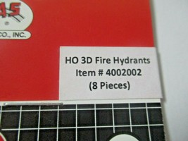 Atlas # 4002002 Fire Hydrants 8 Pieces 3D Printed Accessories HO Scale image 2