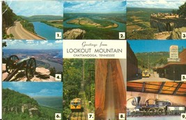 Greetings from Lookout Mountain, Chattanooga, Tennessee, unused Postcard  - $3.99