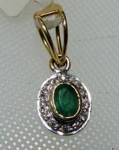 1/2Ct Genuine Diamond Solid 14K Gold Hallmark Evening Party Gift Emerald... - $1,017.72
