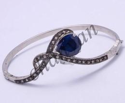 Antique/Vintage Inspired 0.60 Rose Cut Diamond 925 Sterling Silver Bracelet - $275.54