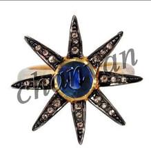 Victorian/Vintage Insp 0.48 C Rose Cut Diamond .925 Sterling Silver Stylish Ring - $160.55