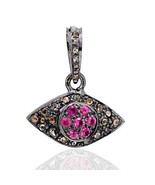Evil Eye ! Antique/Vintage Repro 1.0 Ct Rose Cut Diamond Sterling Silver... - $207.26