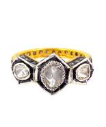 Vintage/Antique Handmade Rose Cut/Polky Diamond Sterling Silver Unique B... - $248.49