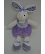 "Target Bunny Rabbit Ballerina Plush White Purple Bow Tutu Stuffed Animal 12""  - $24.74"