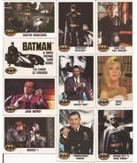 1989 Batman Card Lot #2 Cards #1,2,5,6,8,10,11,14,15, & 19 Joker Vicki G... - $4.95