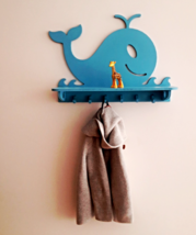 DECORATIVE WALL SHELF / ANIMAL THEME SHELF / WHALE SHELF FOR KIDSROOM - $50.00