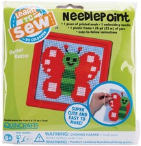 Colorbok Butterfly Learn To Sew Needlepoint Kit - $4.85
