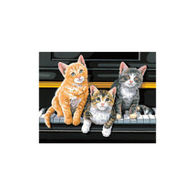 "Paint By Number Kit 14""X11"" Musical Trio - $9.30"