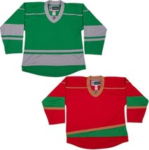 Customized Minnesota Wild Hockey Jersey NHL Style Replica  with NAME & NUMBER - $42.13