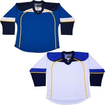 St. Louis Blues  Nhl Style Replica Hockey Jersey With  Number  No Logo  Dj300 - $42.13