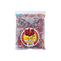 Pony Beads 9mm 1lb Pkg Transparent Multicolor - $7.44