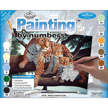 "Paint By Number Kit 15.25""X11.25"" African Leopard & Cub - $9.30"