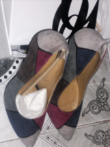 "Nine West Boogie Down Suede Multi-Color Pumps 3 3/4"" Heel Brand New - $44.99"