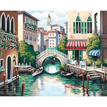 Paint Works Paint By Number Kit 20X16 Scenic Canal - $19.55