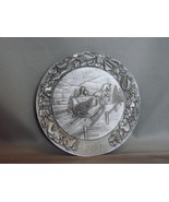 """A Country Sleighride"",1980, 5 3/4"" Pewter Plate Schmid, Ltd Ed  /6000  - $22.00"