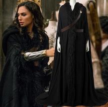 2017 Wonder Woman Diana Prince Black Cloak & Straps Cosplay Costume Cust... - $156.69+