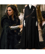 2017 Wonder Woman Diana Prince Black Cloak & Straps Cosplay Costume Cust... - $156.69+