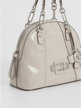 Guess Bourgeois Dome Satchel Stone  & Matching DBL ID WALLET  13 3/4 X 1... - $129.44