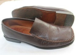 ANTONIO BOSSI  SIZE 10 1/2 M FROM NORDSTROM BROWN EMBOSSED LEATHER LOAFE... - $18.81