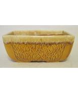 Yellow Drip Glazed Rectangular Vase 76 USA - $40.09