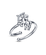 New Fashion 925 Silver White CZ Platinum Over Sagittarius Zodiac Adjusta... - £8.13 GBP