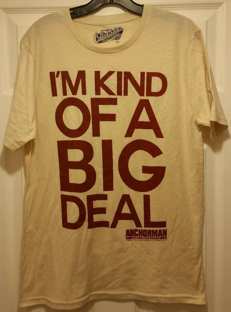 New anchorman i 39 m kind of a big deal adult medium t shirt for Adult medium t shirt