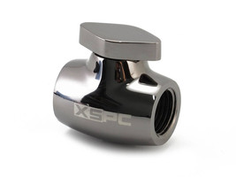 XSPC Ball Valve for PC Liquid Cooling Systems - Black Chrome Finish - $19.00