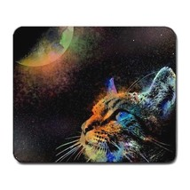 Mousepad Computer Mouse Pad Cat 624 space galaxy moon fantasy L.Dumas - $305,17 MXN