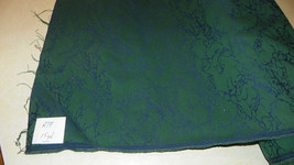 Green Blue Print Nylon Upholstery Fabric  1 Yard  R19 - $29.95