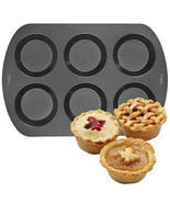 Wilton 6 Cavity Mini Pie Pan Non-stick - $223,42 MXN