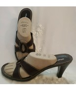 Aerosoles Leather Sandals Size 8.5 Brown Open Toe Comfort Sole Womens Shoes - $20.77