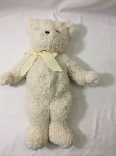 20 pottery barn kids off white teddy bear plush soft pbk plush baby toys. Black Bedroom Furniture Sets. Home Design Ideas