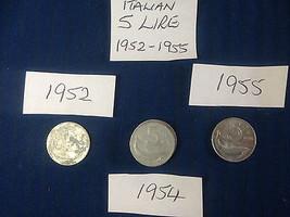 5 Five Lire Lira Italian Italy Coin Hunt Alumin... - $2.93 - $4.42