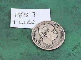 1 Lire Coins Italy 1840 - 1899 Italian  - $38.72