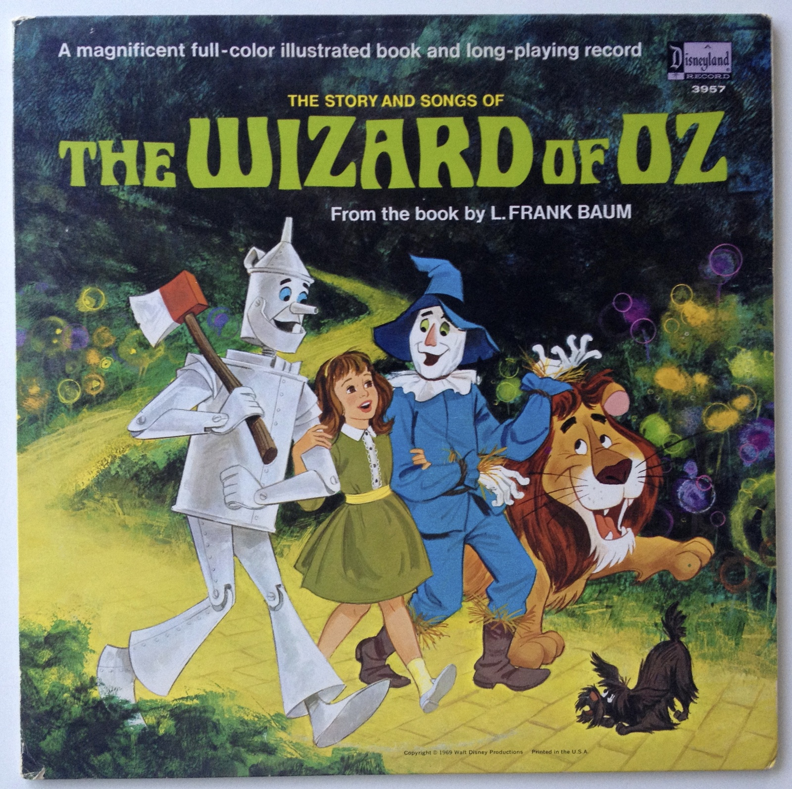 The Story and Songs of The Wizard of Oz LP Vinyl Record Album, Disneyland - 3957