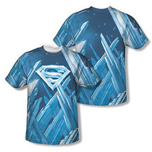 SUPERMAN FORTRESS OF SOLITUDE SUBLIMATION MENS T-SHIRT FRONT BACK AOP SM... - $25.49+