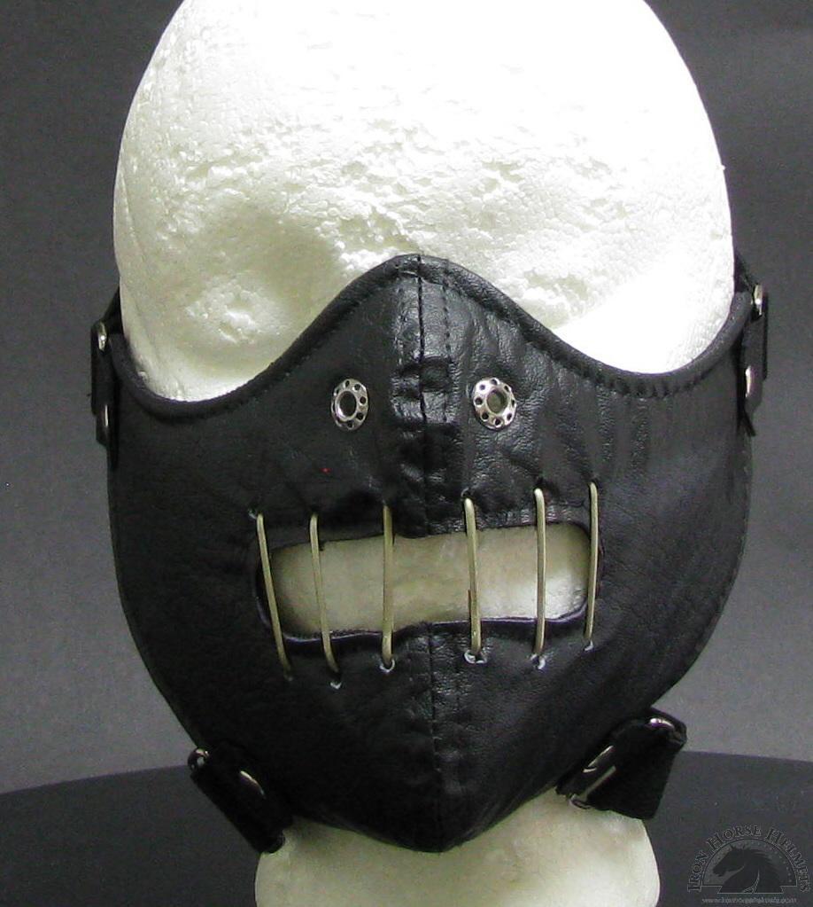 Hannibal Leather Half Face Mask - $25.94
