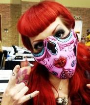 Sugar Skull Neoprene Half  Face Mask - $11.49