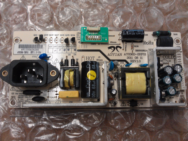 AY036D-2HF01 power Supply Board From Coby LEDTV2326 LCD TV