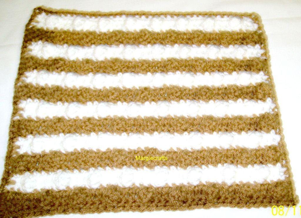Crochet Dishcloth, Handmade Dishrag, Washcloth, Facecloth, Brown, White