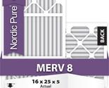 16x25x5 Honeywell Replacement Air Filters MERV 8 Qty 1