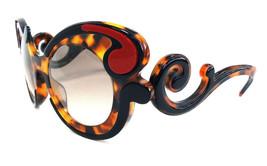 PRADA Women's Sunglasses PR-23NS Havana/Black Minimal Baroque MADE IN IT... - $179.95