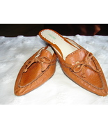 NICOLE Cognac Soft Leather Mule/Slide from Braz... - $21.99