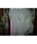 "MARILYN MONROE ""Bombshell"" Sassy Heather Gray Tee Shirt Size S - $6.93"