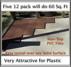 EZ-Link Deck Tiles-12Pk-Resurface concrete or w... - $49.95