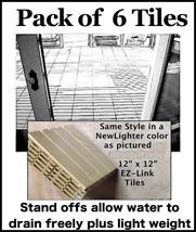 EZ-Link Deck Tiles-6 Pk-Resurface concrete or w... - $24.95