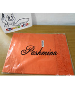 Pashmina Orange Long Fringed Wrap Shawl Scarf 28 x 70 inches NEW FREE SHIP - $25.38