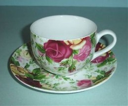 Royal Albert COUNTRY ROSE CHINTZ Tea Cup & Saucer New! - $18.90
