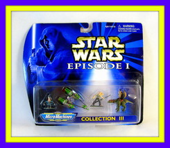 Star Wars Episode 1 Micromachines Collection 3, Including Figures + Vehicle, New - $26.90