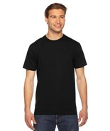 12 Blank American Apparel 2001 Fine Jersey BLACK T-Shirt Lot ok to mix X... - $71.72